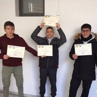 1η θέση στη γενική κατάταξη – Τοπικός μαθητικός διαγωνισμός πειραμάτων – EUSO 2019 α' φάση